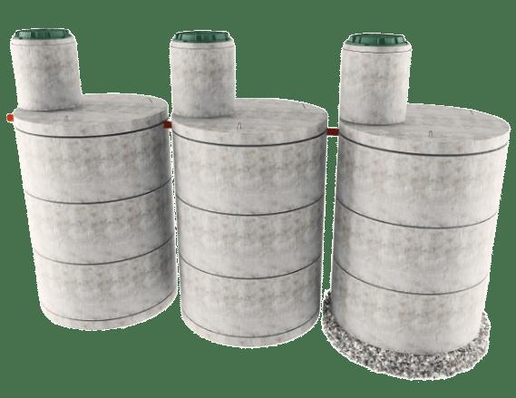 Трехкамерная конструкция септика в Кашире